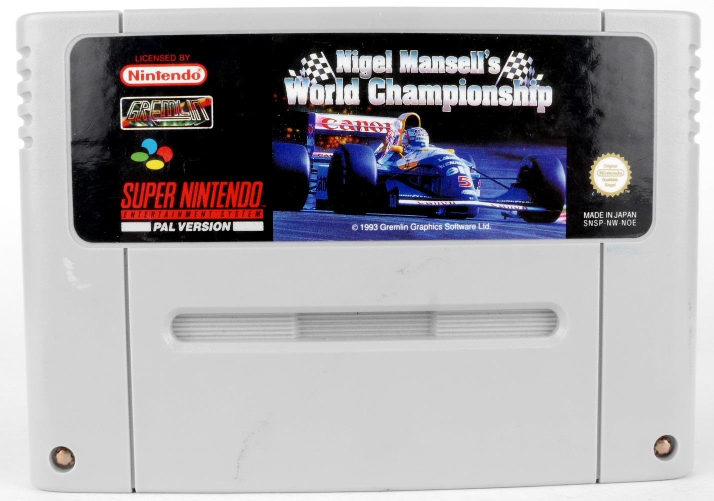 Nigel Mansell's World Championship Racing SNES
