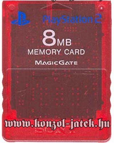 PlayStation 2 Memóriakártya (Piros)