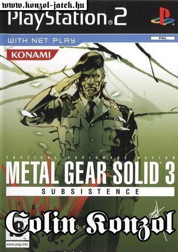 Metal Gear Solid 3 Subsistence (Német  borító, választható angol nyelv)