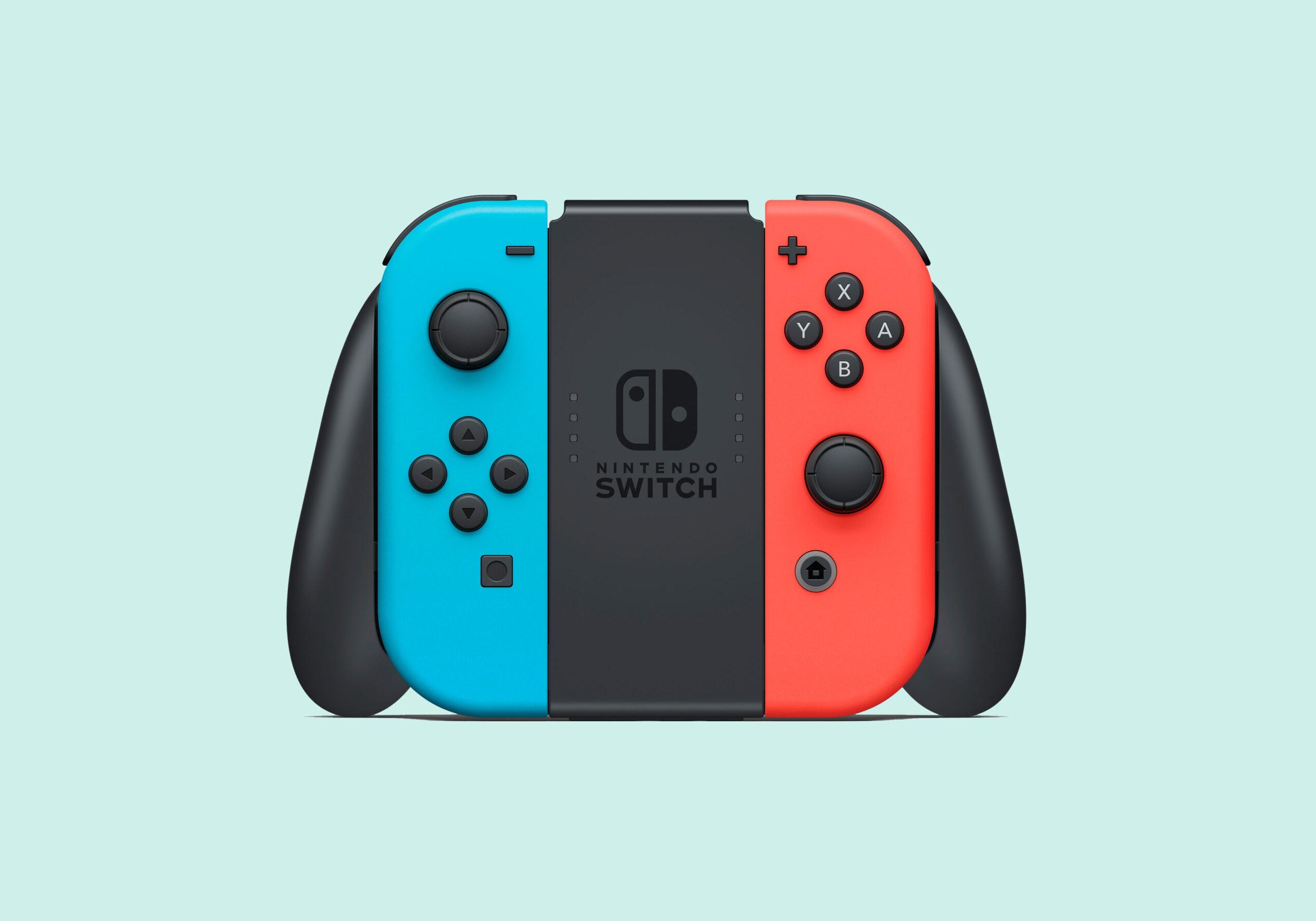 Nintendo Switch Neon RED/Neon Blue Joy-Con+Grip