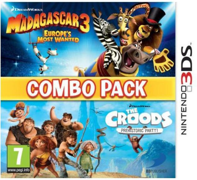 Madagascar 3 Europe's Most Wanted & The Croods Prehistoric Party Combo Pack