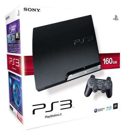 Sony Playstation 3 (PS3 Slim) 160 GB (Eredeti dobozában papírjaival, kartonnal) Széria szám szerinti dobozában