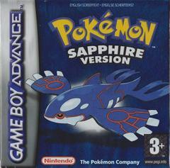 Pokémon Sapphire Version GBA (Doboz, manual hibás, poszter hiányzik)